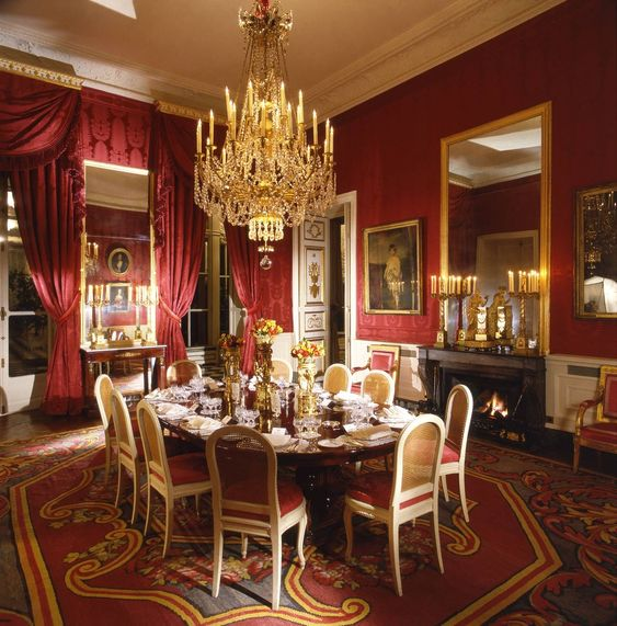 The dining room of the British Embassy in Paris, March 1967.