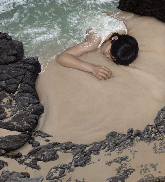 moki: Artist Moki, Surreal Art, Acrylic Paintings, Hamburg Germany, Landscape, Optical Illusion
