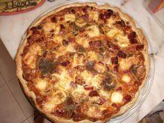 Quiche de Fiambre, Paio, Bacon e Cogumelos | SaborIntenso.com