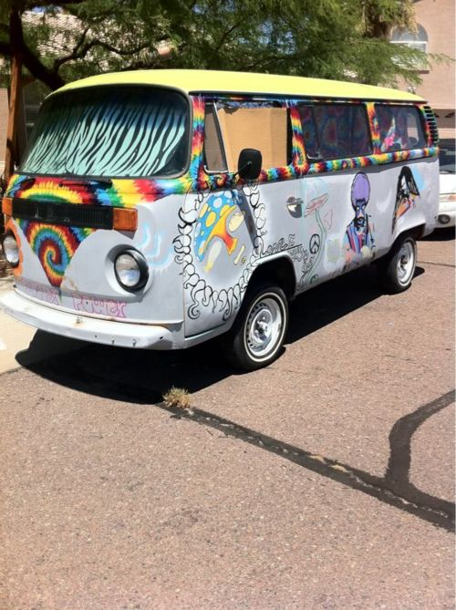 hippie mini bus