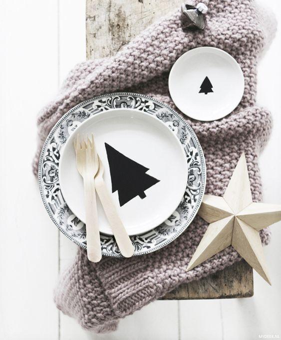 Tableware für Weihnachten