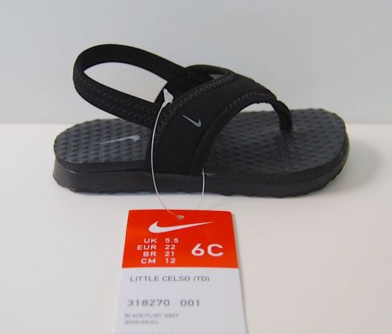 Nike Sandals 6 C Little Celso Td Nwt Black Grey Toddler