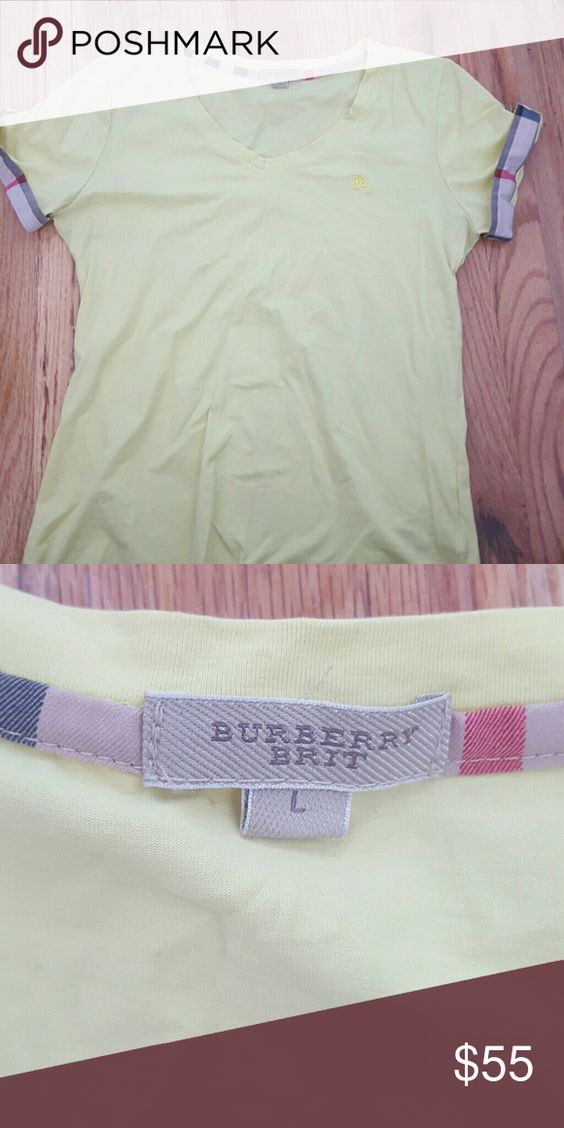Burberry top Short sleeves  yellow very comfortable Burberry Skirts