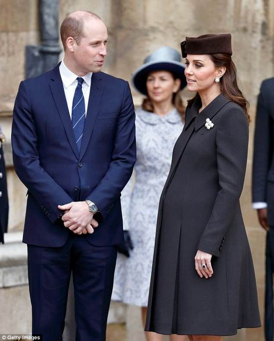 The Duchess of Cambridge, pictured at the Easter Sunday church service on April 1, is due ... #princewilliam #katemiddleton #williamandkate