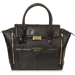 TOPSHOP Winged Pushlock Tote