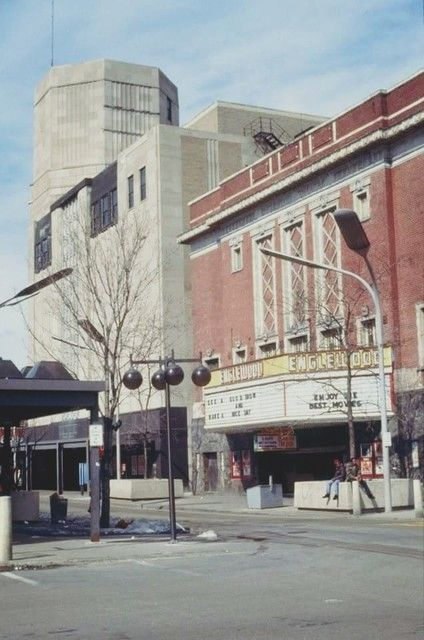Englewood Theatre Chicago With Sears Roebuck Building