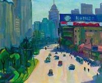 上海卢湾区打浦桥远眺 (Scenery from dapu bridge, Shanghai) von Chen Junde