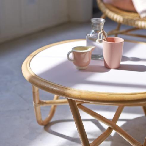 Table Basse En Rotin 70 Leontie Table Basse Rotin Table Basse Mobilier En Bois