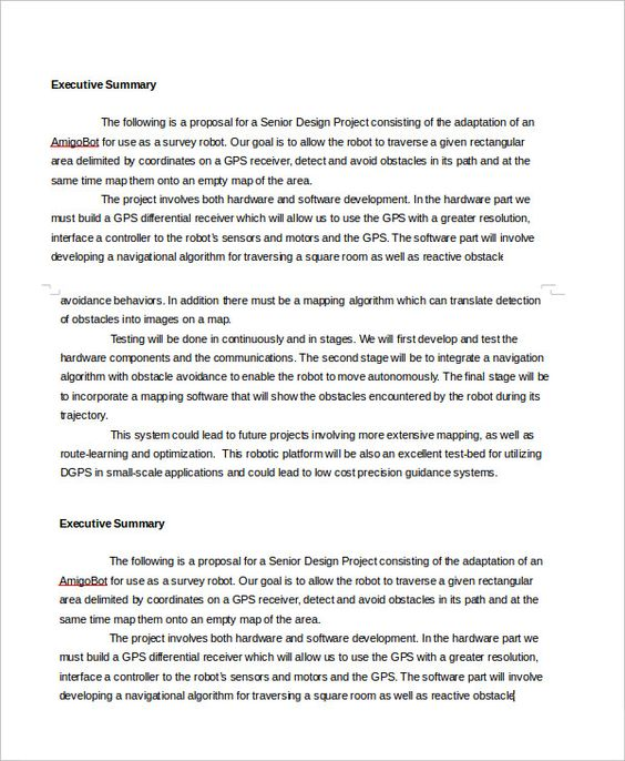 Executive Summary Template - lw00002117png By  templatesoffice