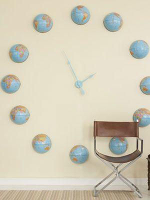 Craft Project: Globe Wall Clock: