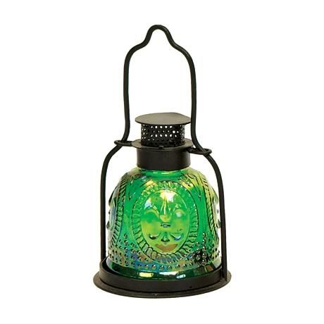 Small Green Pressed Glass Lantern Candle Holder http://www.lampsplus.com/products/small-green-pressed-glass-lantern-candle-holder__u9845.html#