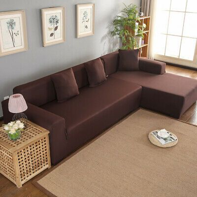 3 2 Seat Corner Sofa Cover L Shape Slipcover Stretch Home Furniture Protector Us Ebay In 2020 Corner Sofa Covers Fabric Sofa Cover Sofa Covers