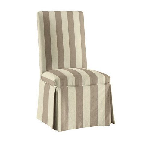 slipcovers stripes and khakis on pinterest ballard designs parsons chair slipcover kitchens pinterest