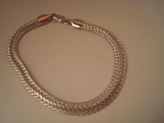 Vintage sterling silver bracelet by IsabelasVintage on Etsy