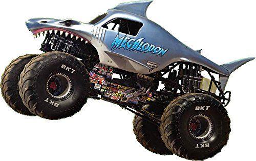 Megalodon Decal Monster Truck Monster Jam Wall Vinyl Sticker Home Decor Art Monster Truck Jam Mural Kids 18 24 Monster Trucks Monster Truck Jam Car Cartoon
