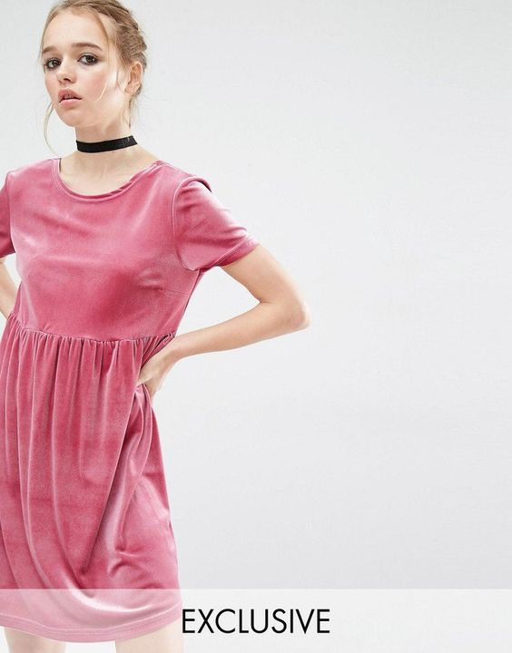 Pin for Later: 33 Ways to Make Summer Velvet Work For You Reclaimed Vintage Smock Dress in Velvet Reclaimed Vintage Smock Dress in Velvet (£38)