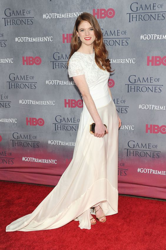 Rose Leslie at the NYC premiere of Game of Thrones season four.