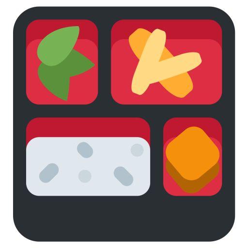 Bento Box Food Plate Fastfood Symbol Emoj 3f4805f96798ad53 512x512 Png 512 512