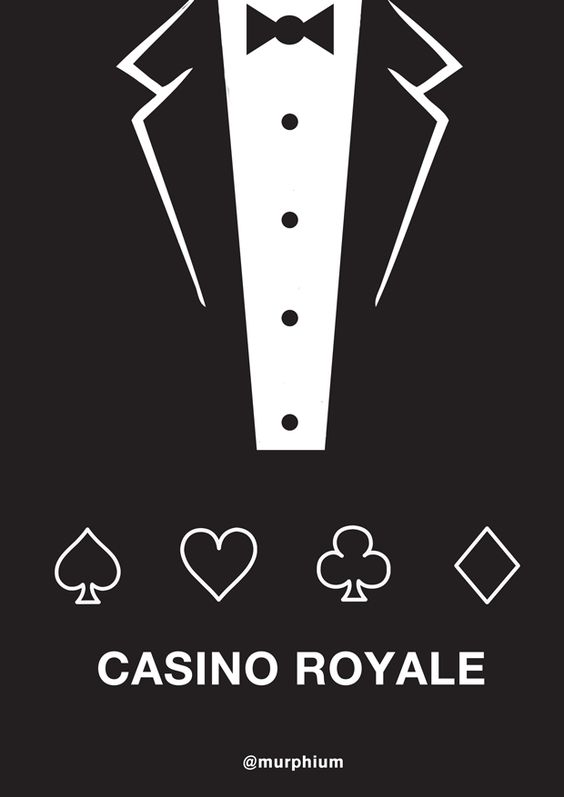 Another quick minimal movie poster. James Bond - Casino Royal