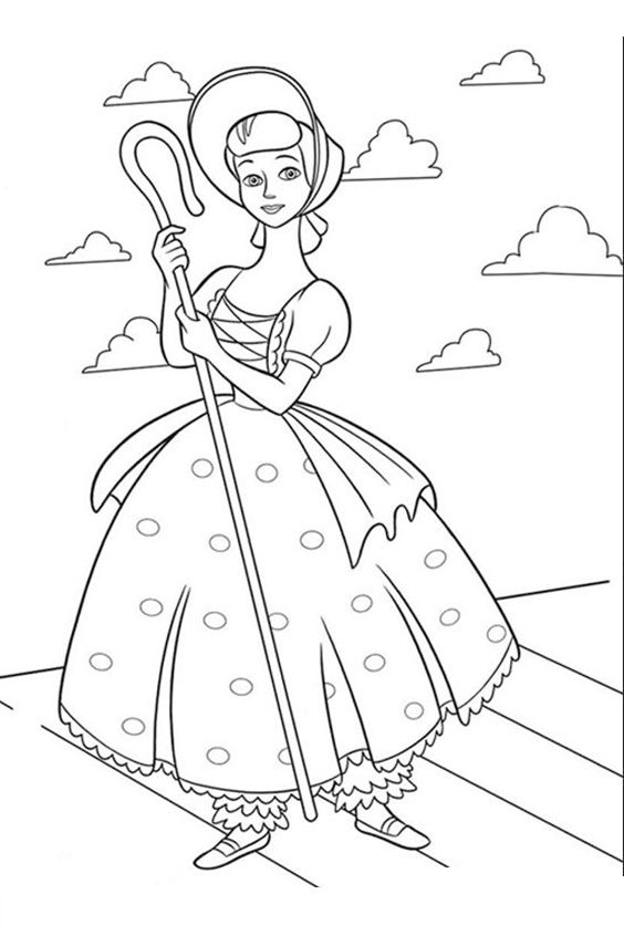 Let S Print The Little Girl From Toy Story And Color It With Your