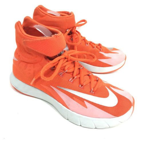 Nike Boys Youth Hyperrev Athletic Basketball Shoes Orange Silver Size 6 5 Zoom Nike Sneakers Nike Boy Outfits