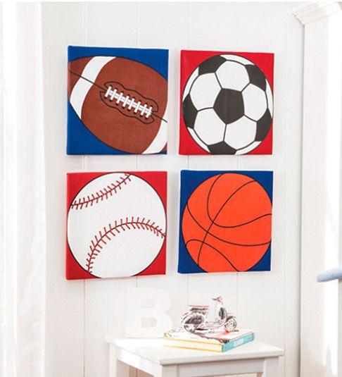 Cuadros decorativos pelotas cuadros para cuarto de ni os - Cuadros murales para pared ...