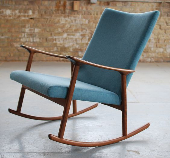 RC01 upholstered rocking chair