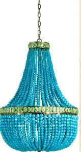 Oh Dear! This TURQUOISE coastal chandelier is a dream <3 a proud price of ca. 3,400 $