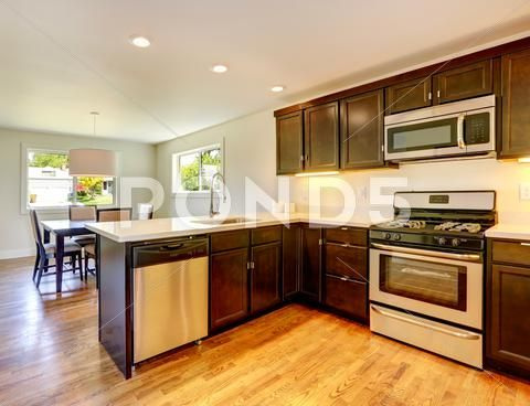 Chocolate Color Kitchen Room Stock Photos Ad Kitchen Color Chocolate Photos Kitchen Remodel Kitchen Room Kitchen Colors
