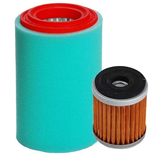 Hifrom Air Filter Element Cleaner With Oil Filter For Yamaha Big Bear 400 Yfm400 Yfm400fb Replaces 1p0 E4450 00 00 4xe E4450 00 00 1uy134400100 1uy134 Oil Filter