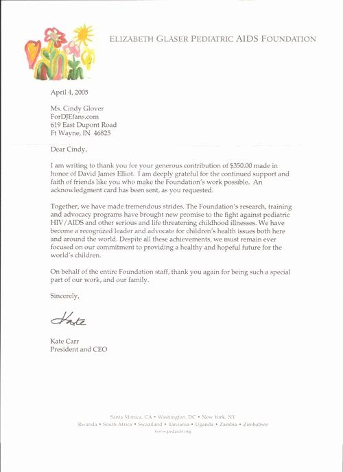 Sample Nonprofit Gift Acknowledgement Letter Luxury Image Result For A T Was Made In Honor Le Donation Thank You Letter Donation Letter Business Letter Example