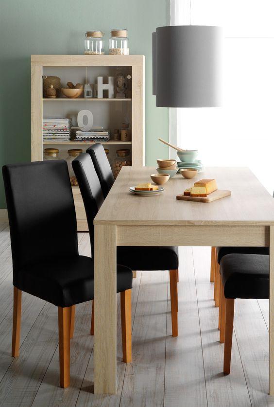 Woonserie joost betaalbare meubels in eikenkleur voor een for Betaalbare eetkamerstoelen