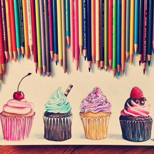 Cupcake Kunst, Kunstvoll and Dibujo on Pinterest