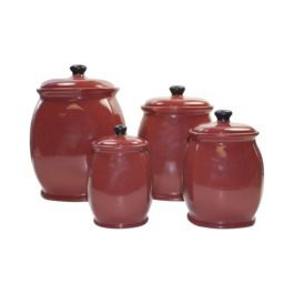 Red canister set from target home decor pinterest Red home decor target
