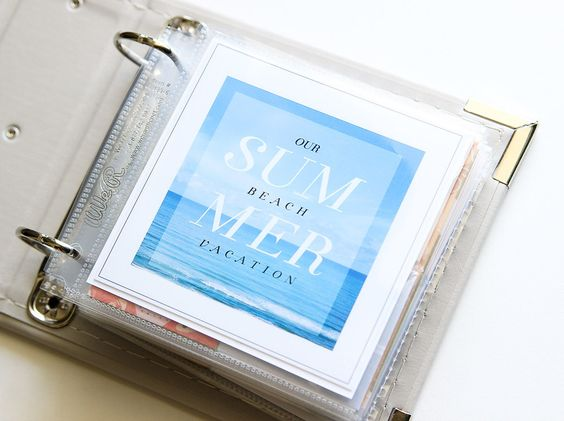 #papercraft #scrapbook #minialbum. 2014 Mini Beach Album Mini by jenkinkade at @studio_calico