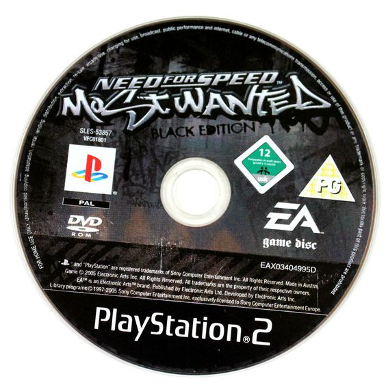 Need For Speed: Most Wanted Black Edition für Playstation 2