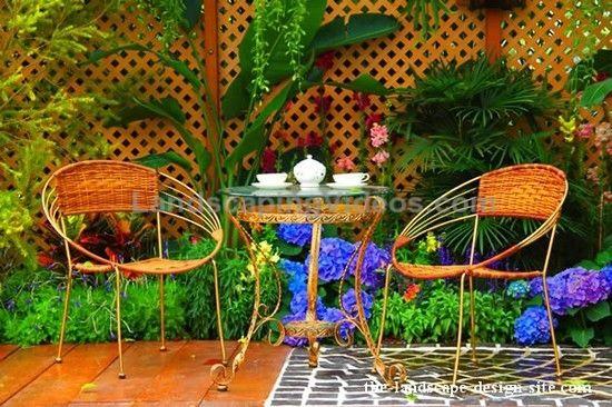 small tropical patio