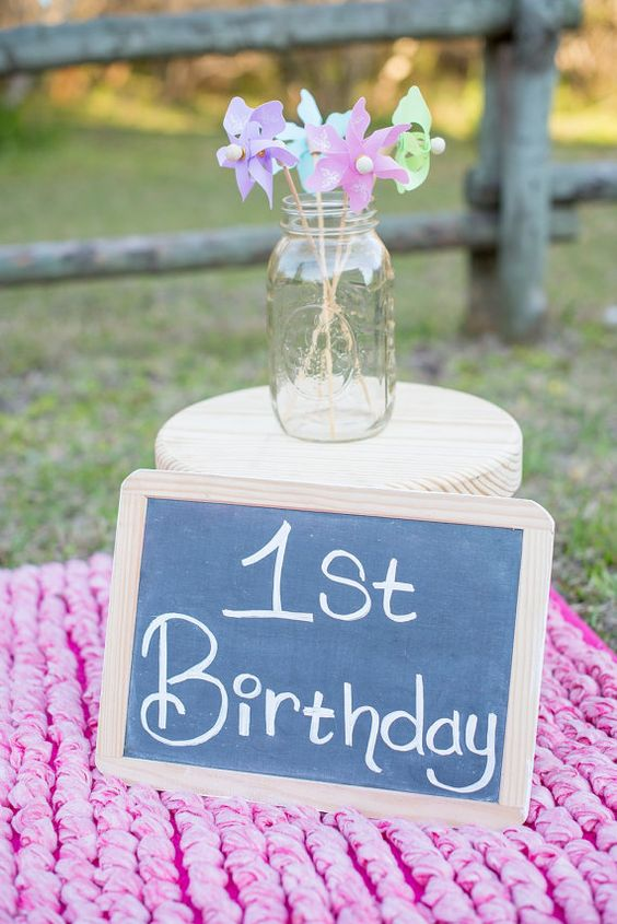 First Birthday Kids Party Chalkboard Photo Prop Party Decoration. Blue Pink Green White Orange Peach Teal Pick Your Color