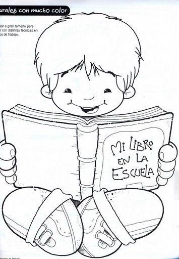 imagenes de niños leyendo para colorear - Buscar con ...