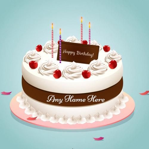 Write Name On Happy Birthday Strawberry Cake Images Happy