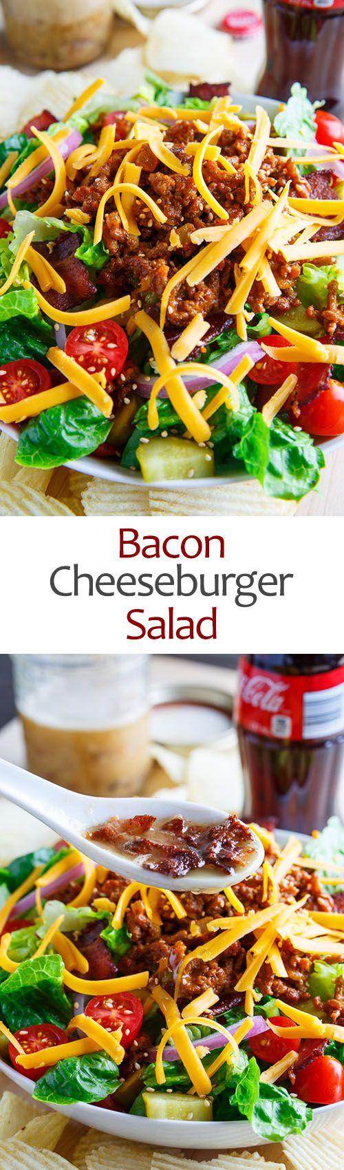 Bacon Cheeseburger Salad | Recipe | Salads, Bacon and Cheese Burger