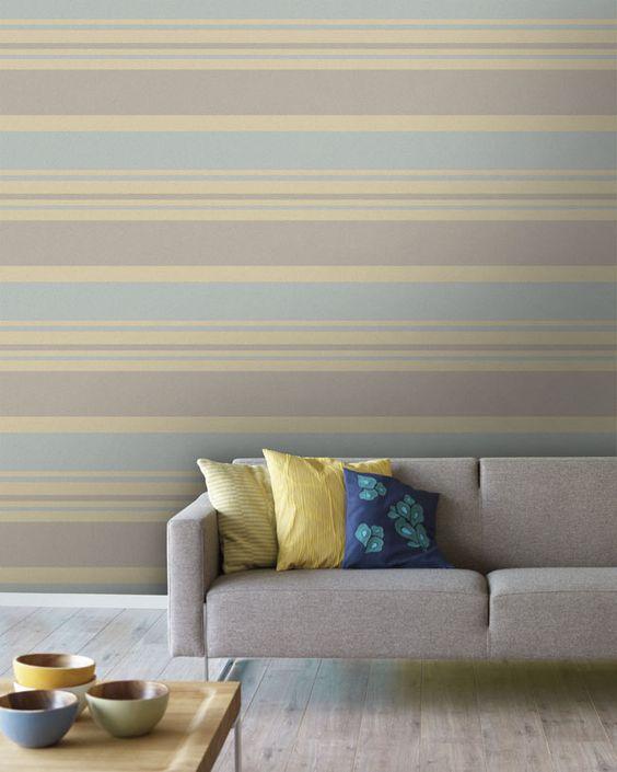 Empapelado rayas anchas horizontales papel de parede - Papel pared rayas verticales ...