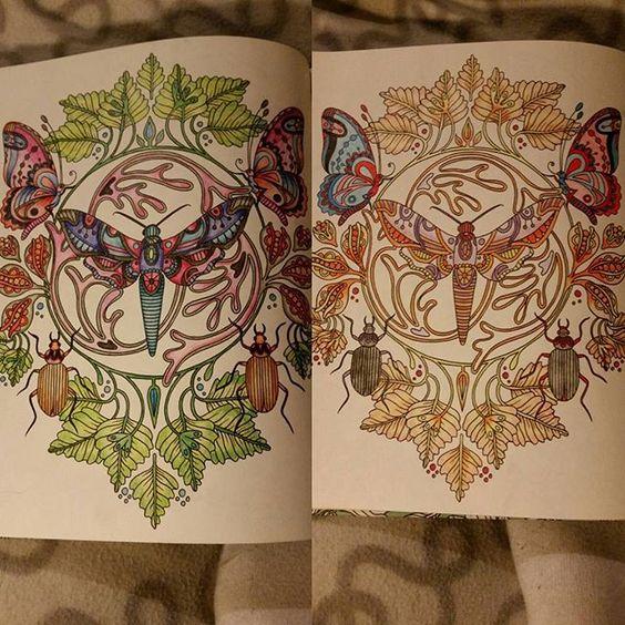 Det bästa med att båda gillar att måla, vi kan tävla :) #dagdrömmar #dagdrömmarhannakarlzon #colouringbookforadults #målarbokförvuxna @emma.v.klasson