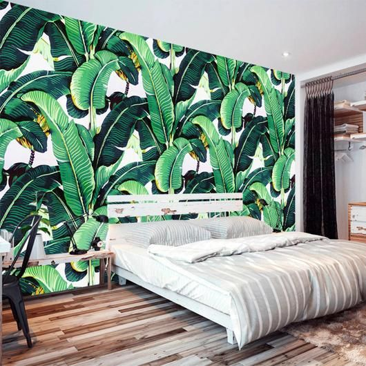 My Bananier Mural Wallpaper M Wallpaper Bedroom Wall Murals Bedroom Tropical Bedrooms