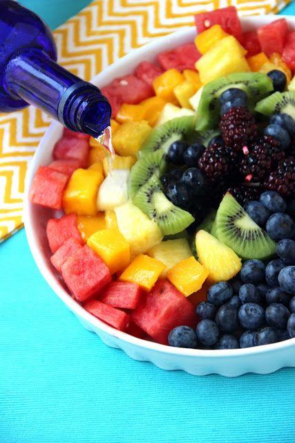 vodka soaked rainbow fruit skewers - so easy, so irresistible!