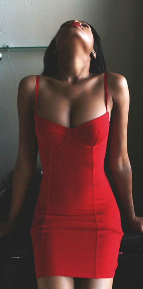 sometimes the most simple mini red dress is the sexiest. Love this