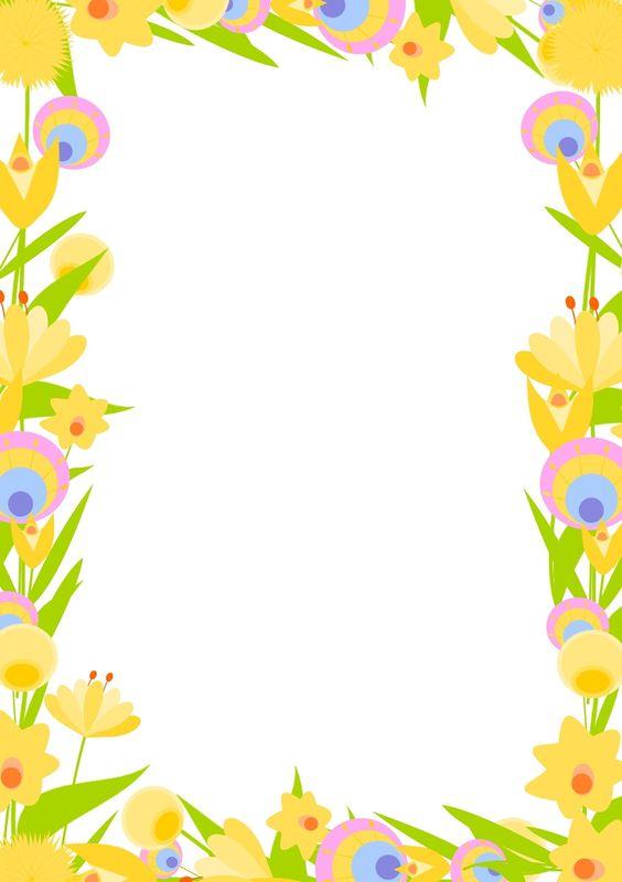 Free digital floral frame png and diy stationery for Pinterest kostenlos