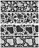 Vector floral borders Stock Photos