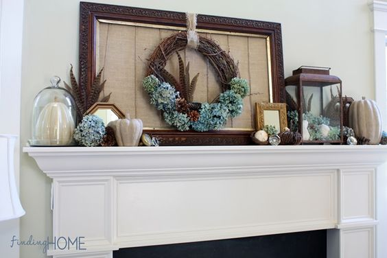 Fall Mantel Decorating Step by Step Tips