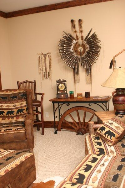 Native American Bedroom Decor | The Native American themed room at ...